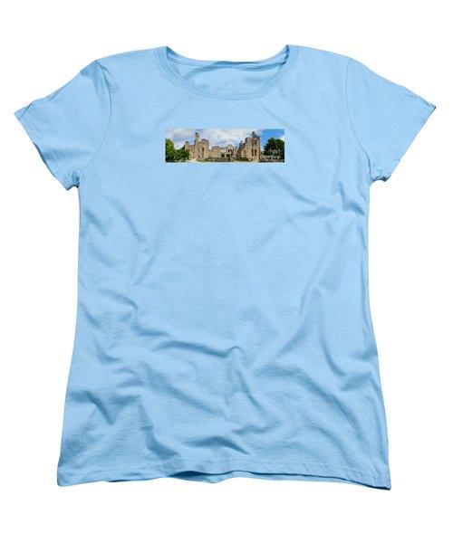 Ha Ha Tonka Castle Panorama Women's T-Shirt (Standard Cut) by Jennifer White