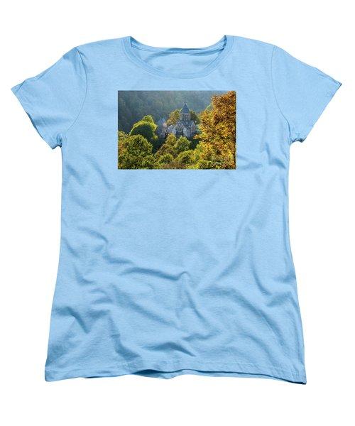 Haghartsin Monastery With Trees In Front At Autumn, Armenia Women's T-Shirt (Standard Cut) by Gurgen Bakhshetsyan