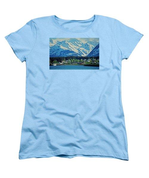 Haines - Alaska Women's T-Shirt (Standard Cut) by Juergen Weiss