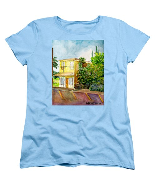 Women's T-Shirt (Standard Cut) featuring the painting Hairbenders Of Paia by Eric Samuelson