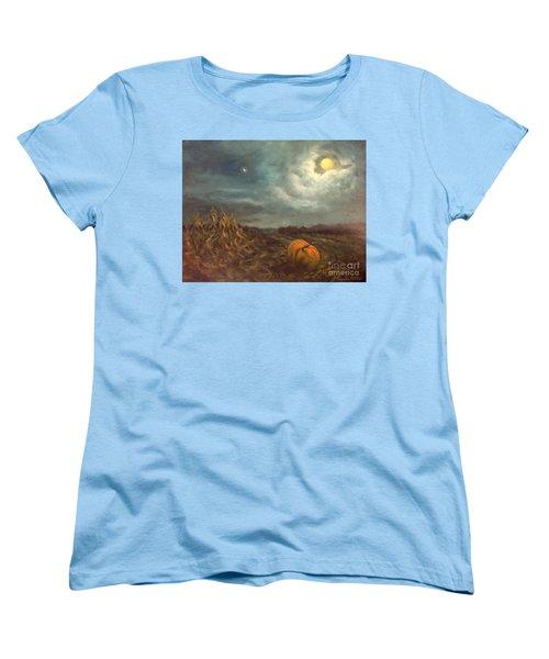 Halloween Mystery Under A Star And The Moon Women's T-Shirt (Standard Cut) by Randy Burns