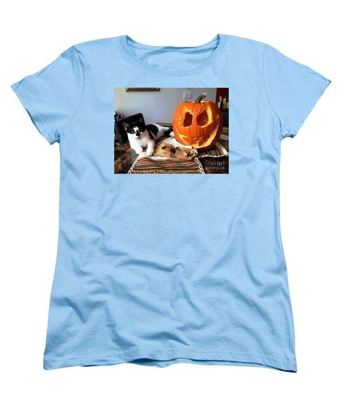 Halloween Women's T-Shirt (Standard Cut) by Vicky Tarcau