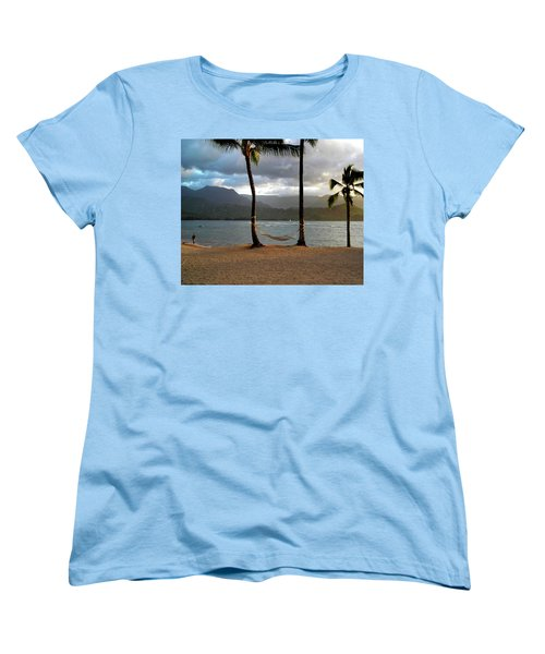 Hammock At Hanalei Bay Women's T-Shirt (Standard Cut)