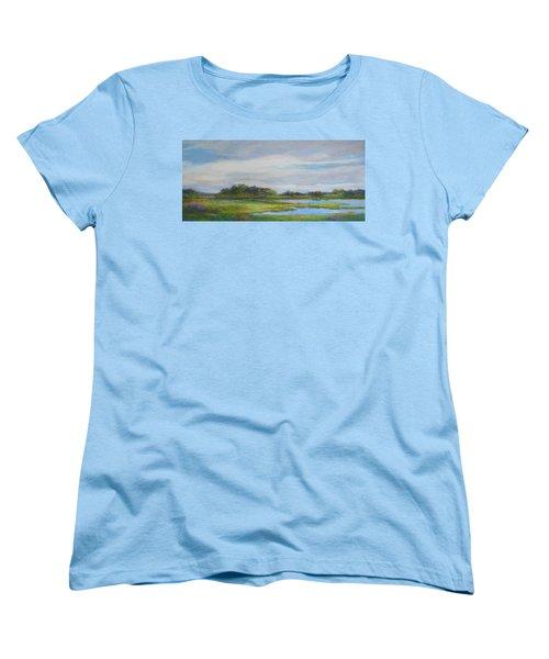 Hammonassett Sky Women's T-Shirt (Standard Cut) by Vikki Bouffard