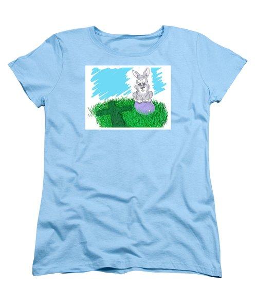 Happy Easter Women's T-Shirt (Standard Cut) by Antonio Romero