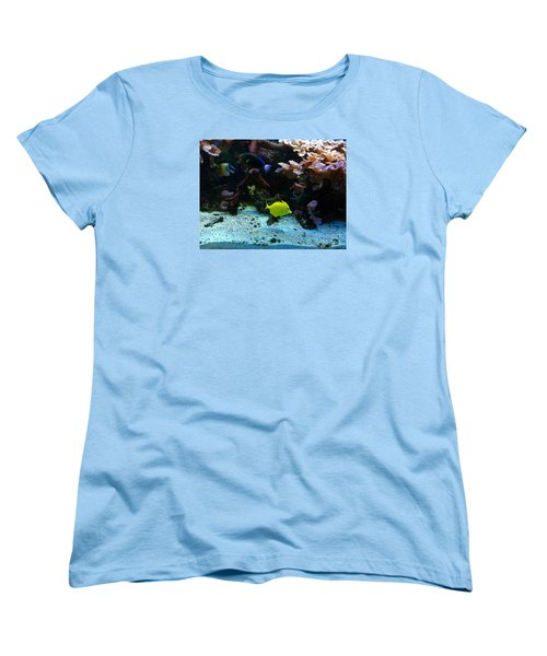 Happy Fish At Panda Garden Restaurant Women's T-Shirt (Standard Cut) by Patricia E Sundik