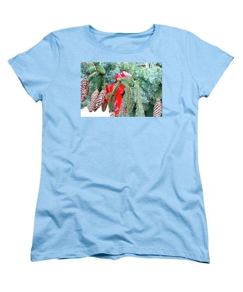 Women's T-Shirt (Standard Cut) featuring the photograph Happy Holidays by Ann Murphy