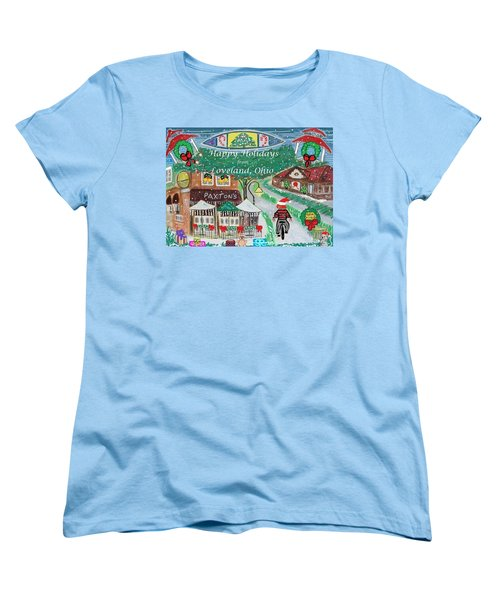 Happy Holidays From Loveland, Ohio Women's T-Shirt (Standard Cut)
