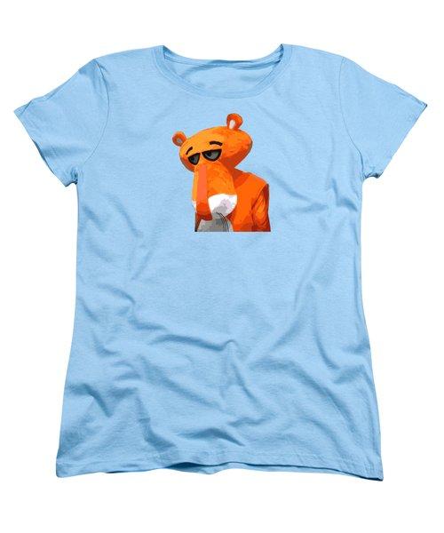 Happy Panther Women's T-Shirt (Standard Cut) by Jirka Svetlik