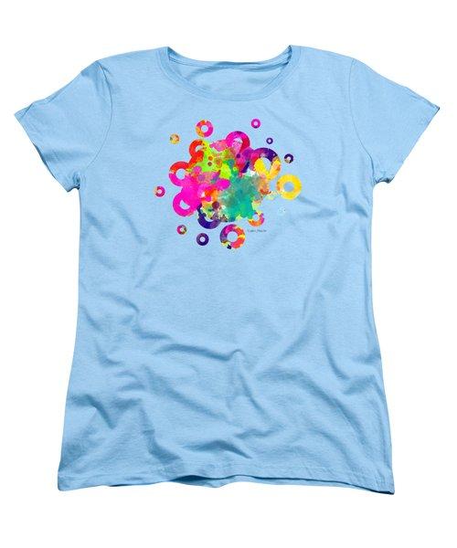 Happy Rings - Tee Shirt Design Women's T-Shirt (Standard Cut) by Debbie Portwood