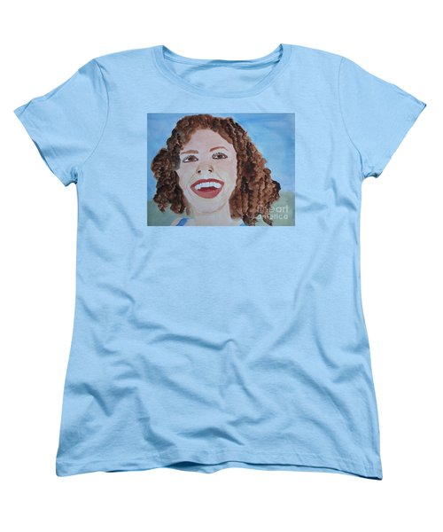 Women's T-Shirt (Standard Cut) featuring the painting Happy by Sandy McIntire