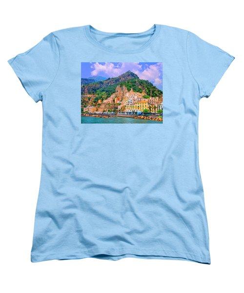 Harbor At Amalfi Women's T-Shirt (Standard Cut) by Dominic Piperata