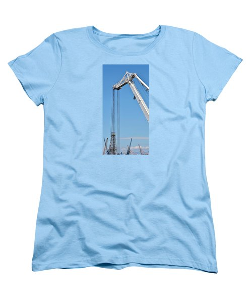 Women's T-Shirt (Standard Cut) featuring the photograph Harbor Impression by Werner Lehmann
