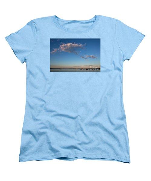 Harbor In Lincolnville,maine Women's T-Shirt (Standard Cut) by Diane Diederich
