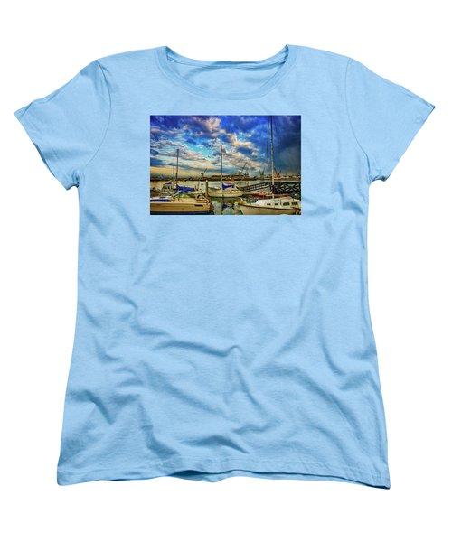 Harbor Scene Women's T-Shirt (Standard Cut) by Joseph Hollingsworth