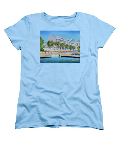 Harborside Marina Women's T-Shirt (Standard Cut) by Shelia Kempf