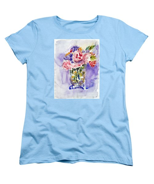 Harlequin Or Bright Side Of Life Women's T-Shirt (Standard Cut) by Jasna Dragun