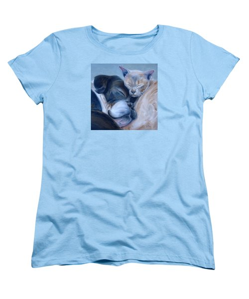 Women's T-Shirt (Standard Cut) featuring the painting Harmony by Donna Tuten