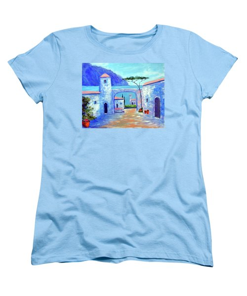 Women's T-Shirt (Standard Cut) featuring the painting Harmony Of Como by Larry Cirigliano