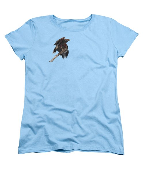 Harris Hawk - Transparent 2 Women's T-Shirt (Standard Cut) by Nikolyn McDonald