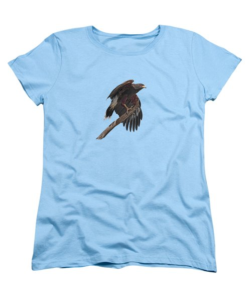 Harris Hawk - Transparent Women's T-Shirt (Standard Cut) by Nikolyn McDonald