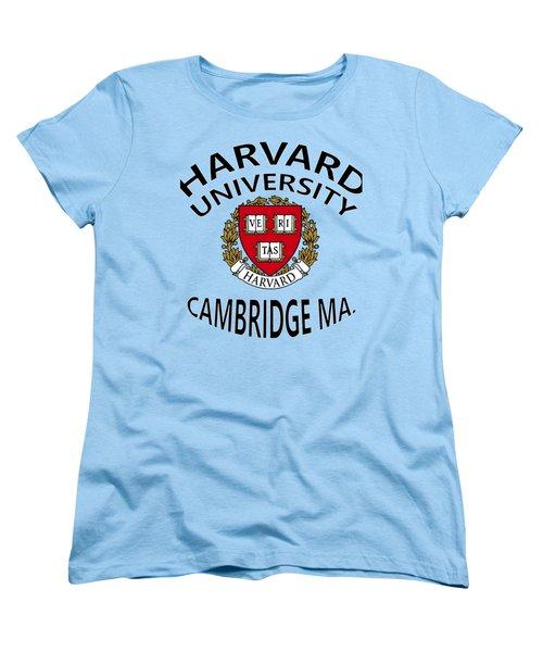 Harvard University Cambridge M A  Women's T-Shirt (Standard Cut) by Movie Poster Prints
