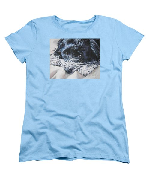 Havanese Black And White Women's T-Shirt (Standard Cut) by Lee Ann Shepard