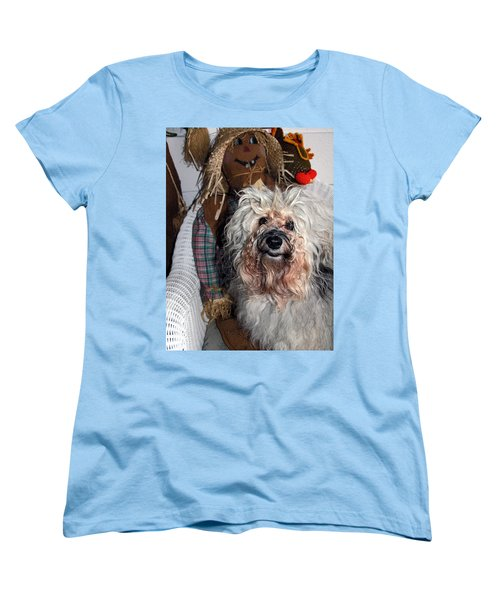 Women's T-Shirt (Standard Cut) featuring the photograph Havanese Cutie by Sally Weigand
