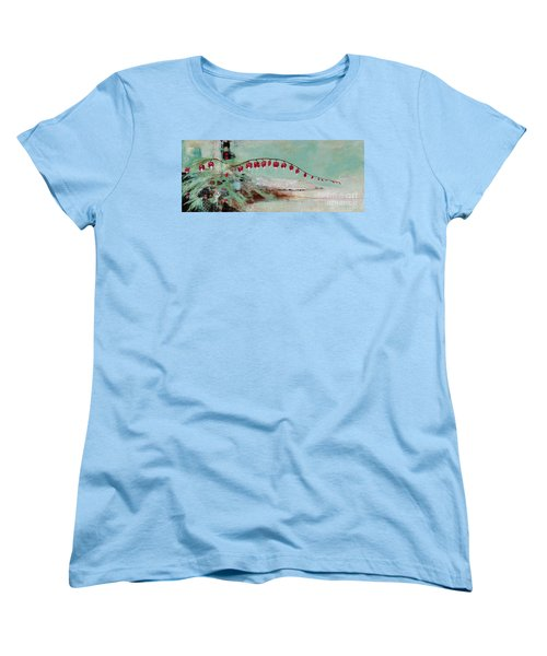 Women's T-Shirt (Standard Cut) featuring the painting Have We Become Comfortably Numb by Frances Marino