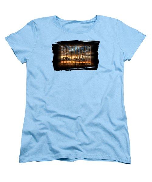 Hawaii Sunset Women's T-Shirt (Standard Cut) by David Lawson