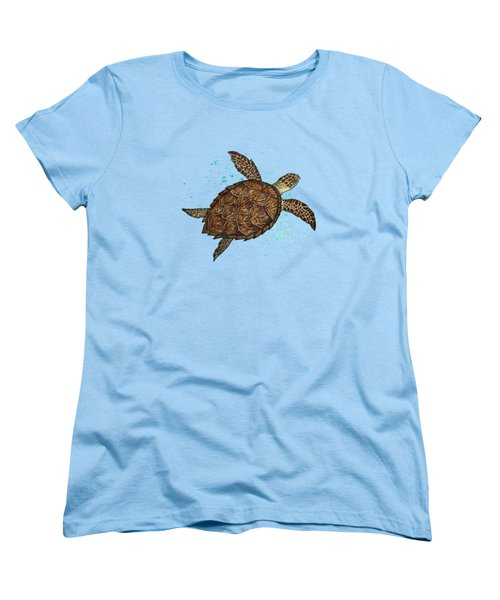 Hawksbill Sea Turtle Women's T-Shirt (Standard Cut) by Amber Marine