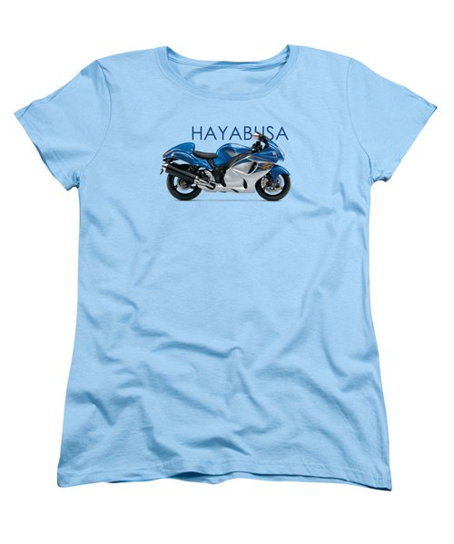 Hayabusa In Blue Women's T-Shirt (Standard Cut) by Mark Rogan