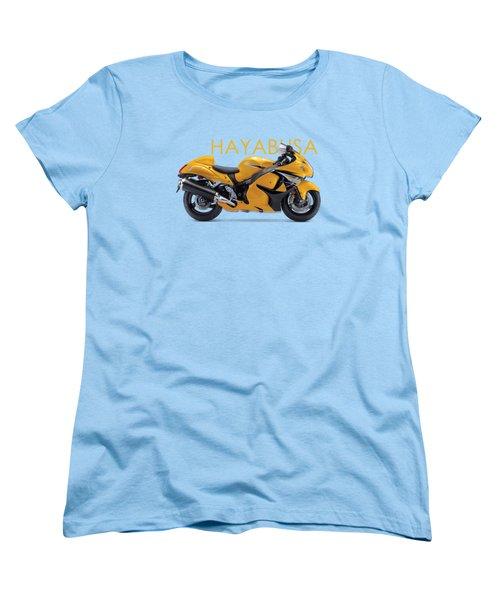 Hayabusa In Yellow Women's T-Shirt (Standard Cut) by Mark Rogan