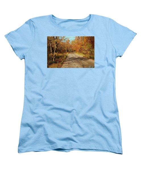 Hazen Notch Summit Road Women's T-Shirt (Standard Cut) by John Selmer Sr