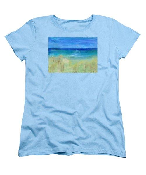 Hazy Beach Women's T-Shirt (Standard Cut) by Regina Valluzzi