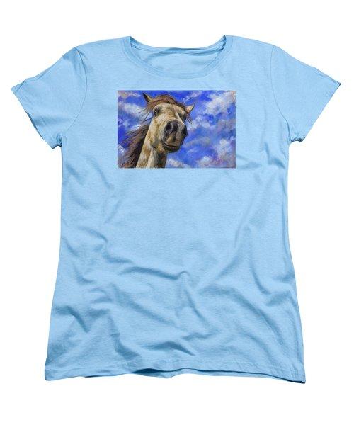 Head In The Clouds Women's T-Shirt (Standard Cut) by Billie Colson