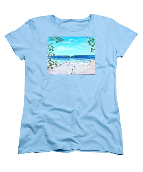 Women's T-Shirt (Standard Cut) featuring the painting Headed Home by Dawn Harrell