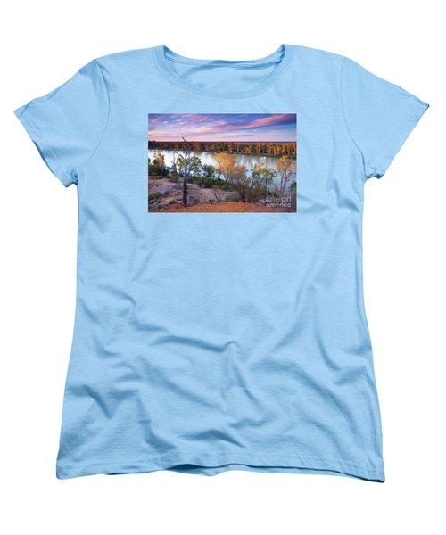 Women's T-Shirt (Standard Cut) featuring the photograph Heading Cliffs Murray River South Australia by Bill Robinson