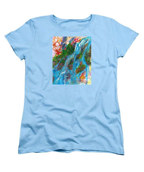 Healing Waters Women's T-Shirt (Standard Cut) by Denise Hoag