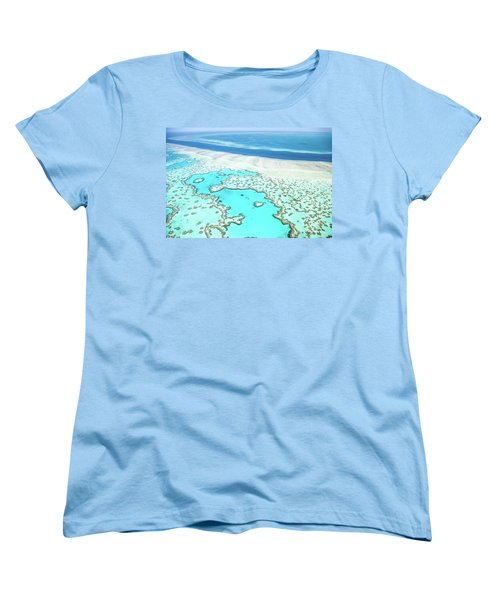 Women's T-Shirt (Standard Cut) featuring the photograph Heart Reef by Az Jackson