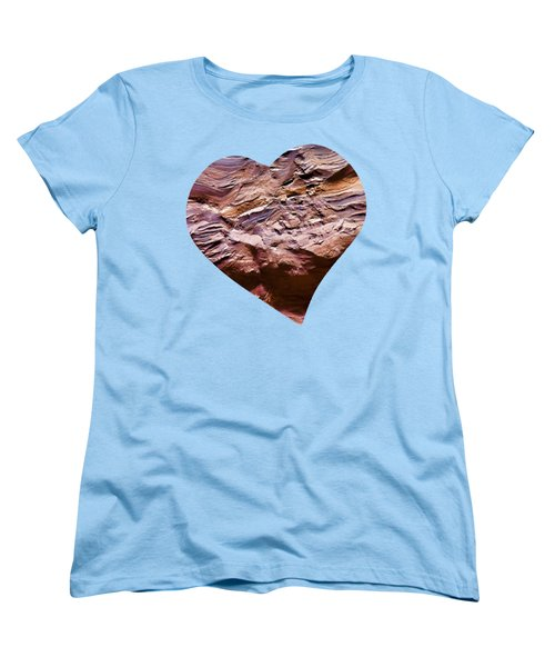 Heart Shape Stone Art Women's T-Shirt (Standard Cut)