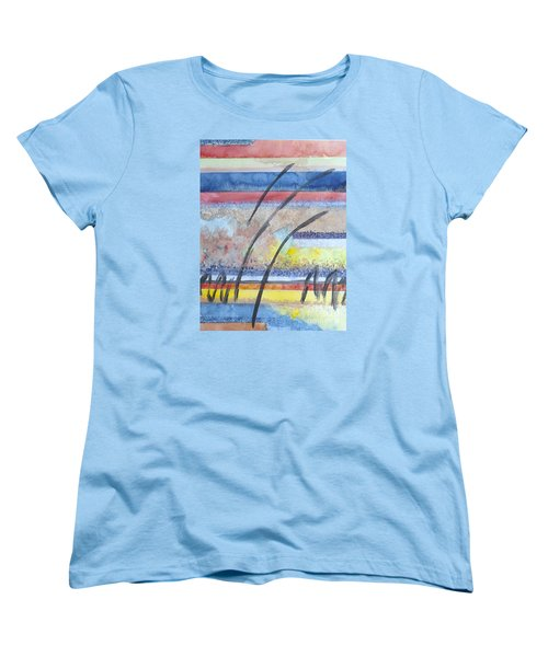 Women's T-Shirt (Standard Cut) featuring the painting Heartbeat by Jacqueline Athmann