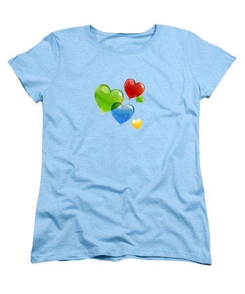 Hearts 11 T-shirt Women's T-Shirt (Standard Cut) by Herb Strobino