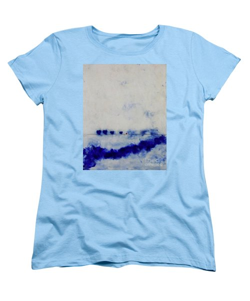 Women's T-Shirt (Standard Cut) featuring the painting Hearts On A Wire by Kim Nelson