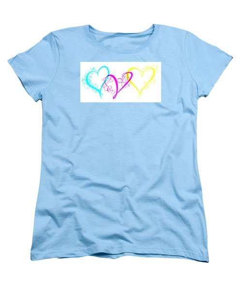 Hearts On White Women's T-Shirt (Standard Cut) by Swank Photography