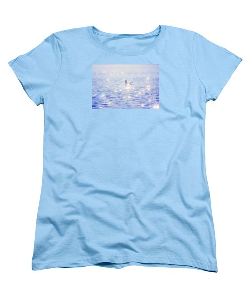 Women's T-Shirt (Standard Cut) featuring the photograph Heaven On The Lake- Lake Mary Ronan  by Janie Johnson