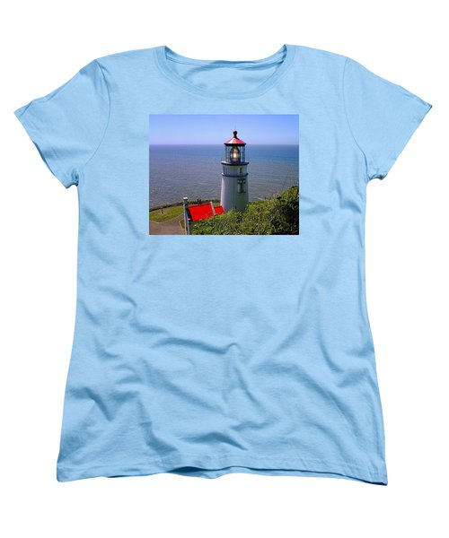 Women's T-Shirt (Standard Cut) featuring the photograph Heceta Head Lighthouse by Wendy McKennon