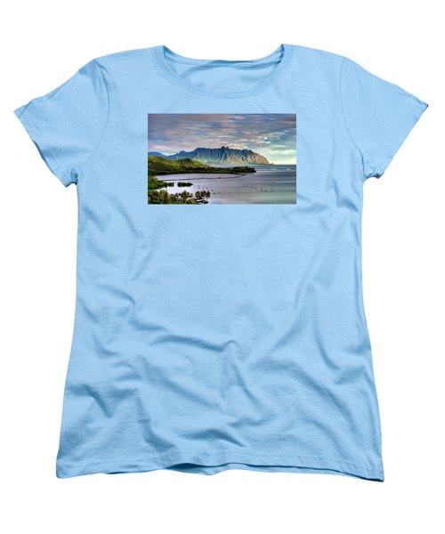He'eia Fish Pond And Kualoa Women's T-Shirt (Standard Cut) by Dan McManus