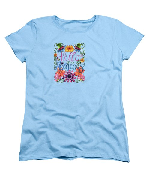 Hello Gorgeous Plus Women's T-Shirt (Standard Cut) by Shelley Wallace Ylst