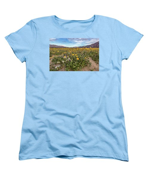 Women's T-Shirt (Standard Cut) featuring the photograph Henderson Canyon Super Bloom by Peter Tellone